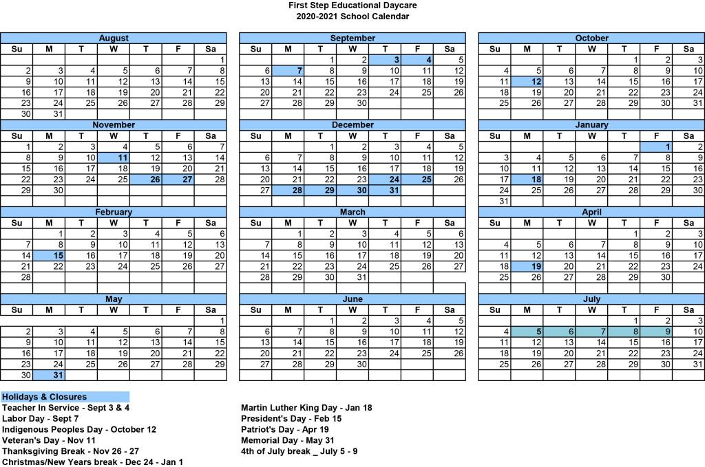 FS 20-21 Calendar